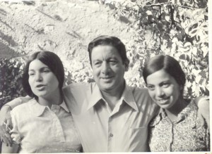 fernando navarro y sus hija estela y maria luisa, 1971