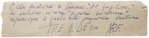 dibujo hecho por una niña en una de las casas en que fernando navarro estuvo clandestino, 1975/76