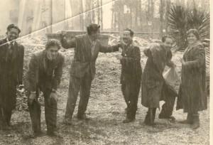 Nieve en el pedagógico, Fernando navarro y compañeros de Universidad