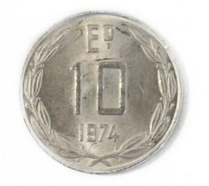 Moneda de 10 escudos, 1974