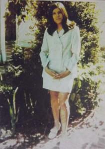 Mónica en la casa de Quinta Normal, 1971.