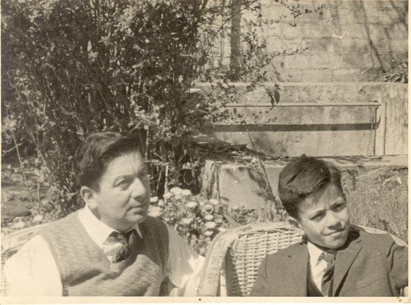 Fernando Ortiz y su hijo Pablo Ortiz