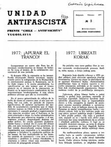"""Publicación clandestina del partido comunista """"Unidad Antifascista"""""""