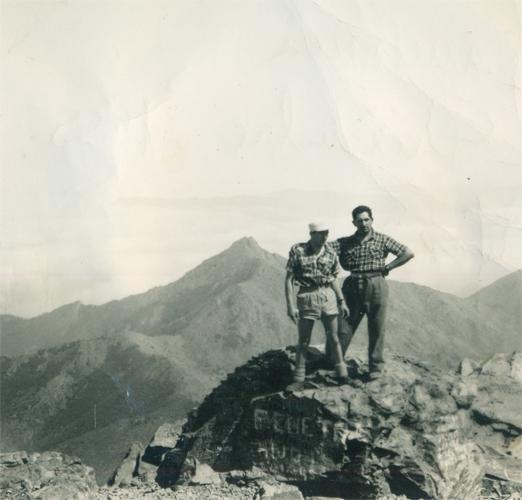 Fernando navarro y un amigo 1955