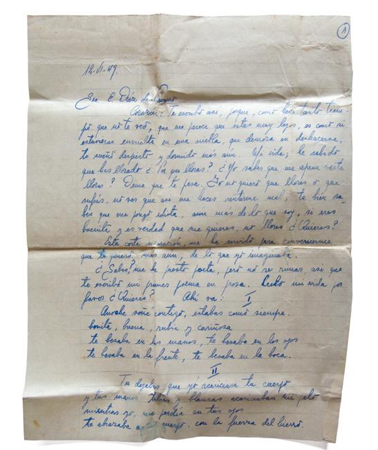 Carta de fernando navarro 1949