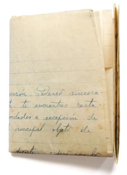 Carta escrita por Fernando Navarro, 1947