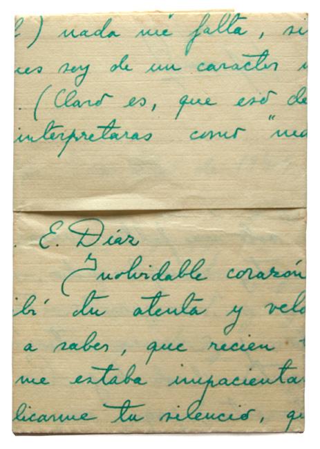 Carta escrita por fernando navarro 1947