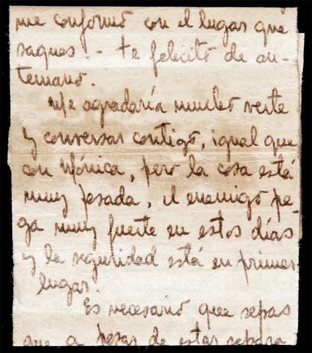 carta escrita clandestinamente por fernando navarro para su hija patricia 1975