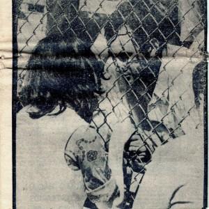 Aminta Traverso visita a Marcelo concha en el estadio nacional