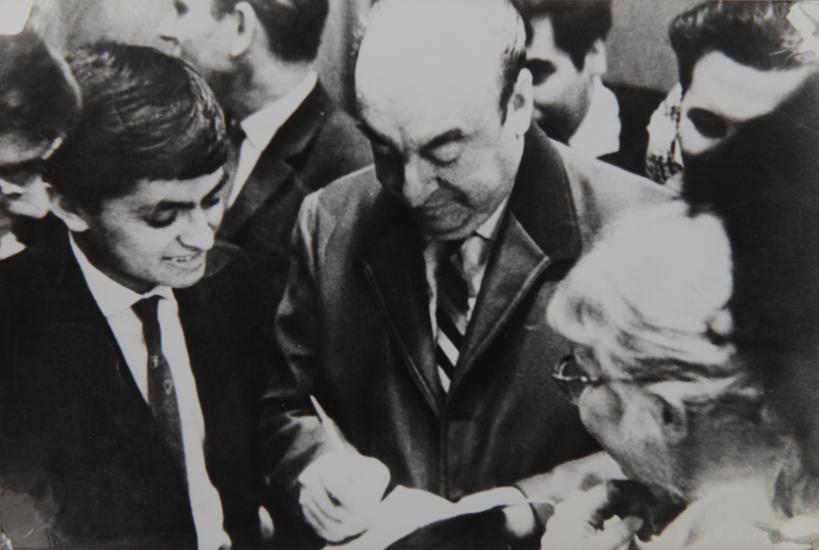 pablo neruda, moscú, 1965
