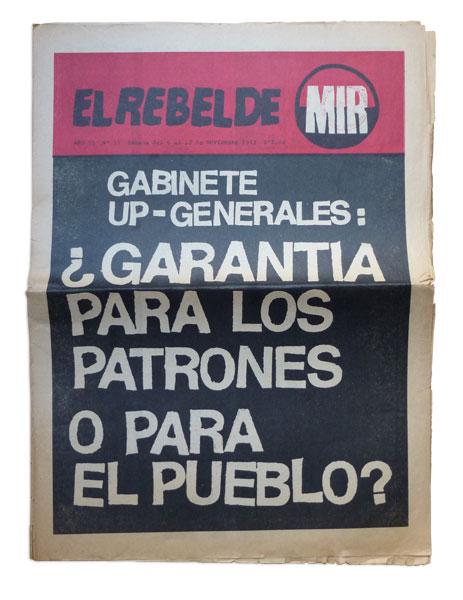 Diario El Rebelde, MIR, 1972