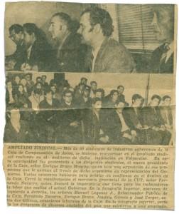 encuentro sindical, fernando navarro, 1972