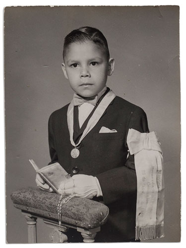 mauricio jorquera, primera comunión, 1960