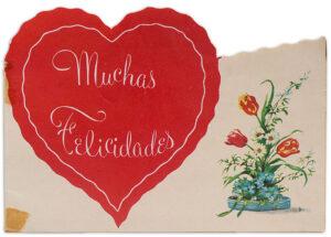 Tarjeta regalada por Mauricio Jorquera para su madre