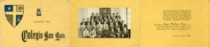 Certificado de promoción Colegio San Luis, Antofagasta, 1968